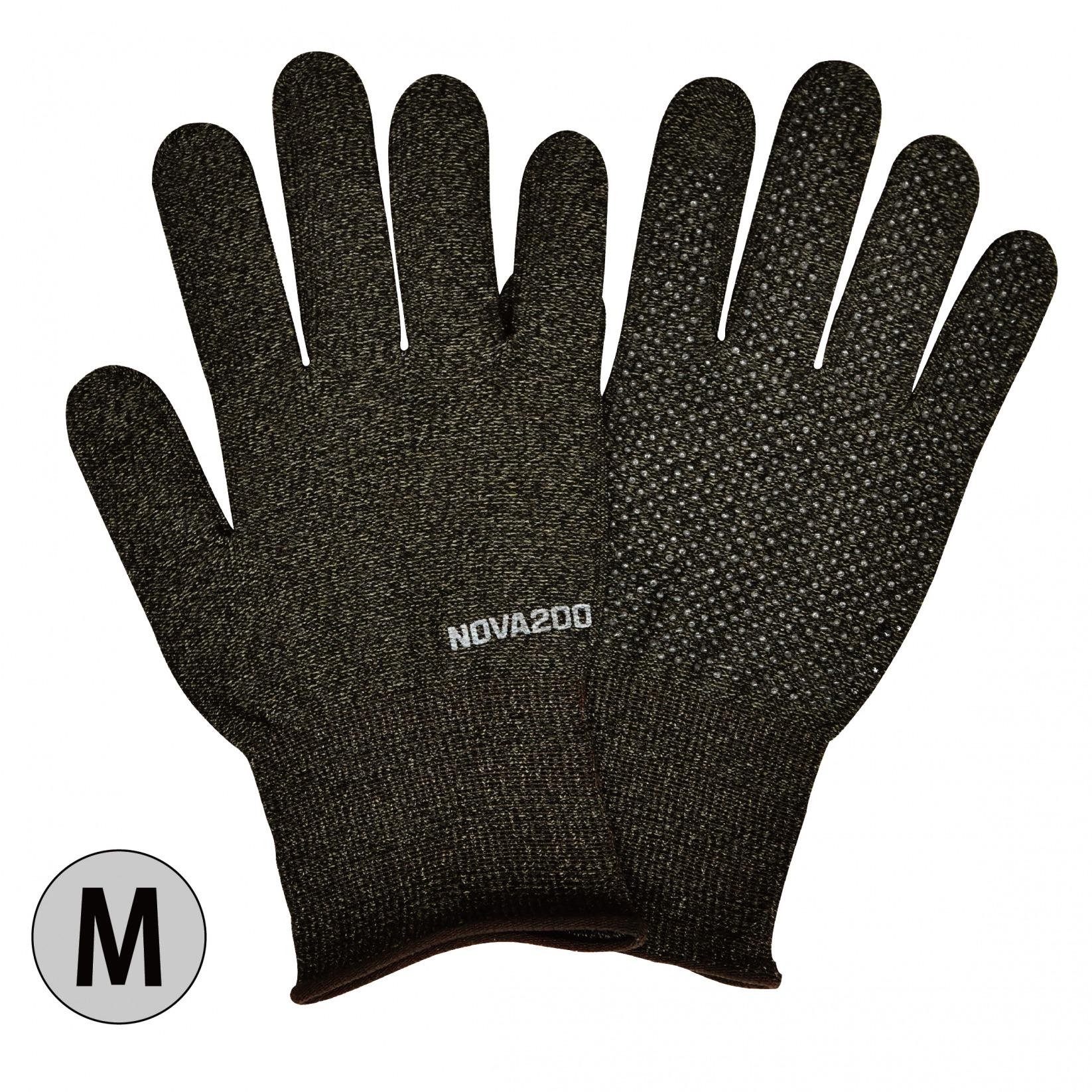 銅イオン手袋「抗菌効果」NOVA200 _ブラックミックス